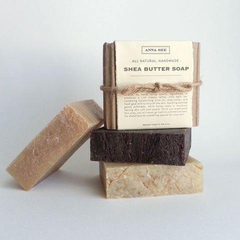 ALL-NATURAL, HANDMADE, SHEA BUTTER SOAP FOR SENSITIVE SKIN, MADE FROM SCRATCH EXCLUSIVELY FOR ANNA SEE