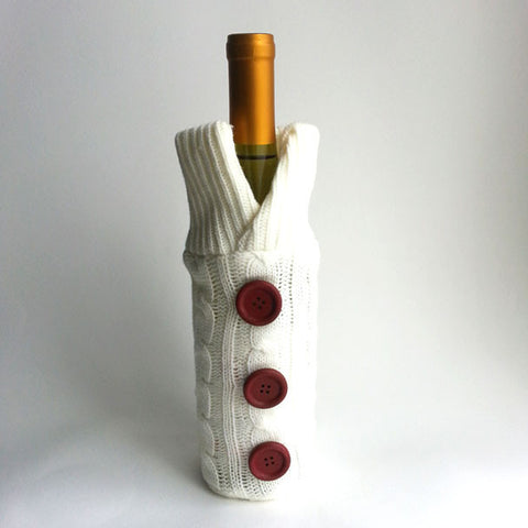 WINE SWEATER, WINE SLEEVE, WINE BOTTLE COVER, AVAILABLE EXCLUSIVELY AT ANNA SEE