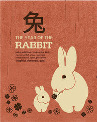 THE YEAR OF THE RABBIT 2011 ILLUSTRATION GICLEE ART PRINT BY ANNA SEE