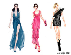 RUNWAY DIVAS ILLUSTRATION GICLEE ART PRINT BY ANNA SEE