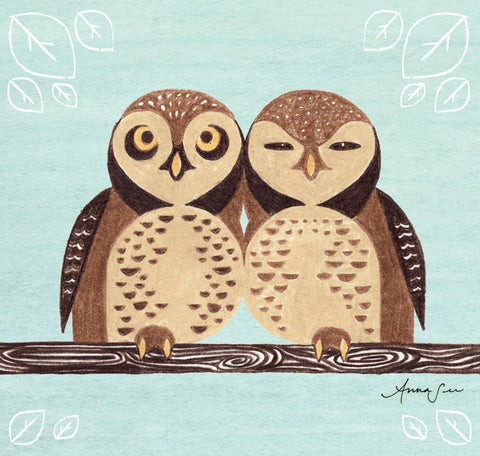 SPOTTED OWL ILLUSTRATION GICLEE ART PRINT BY ANNA SEE