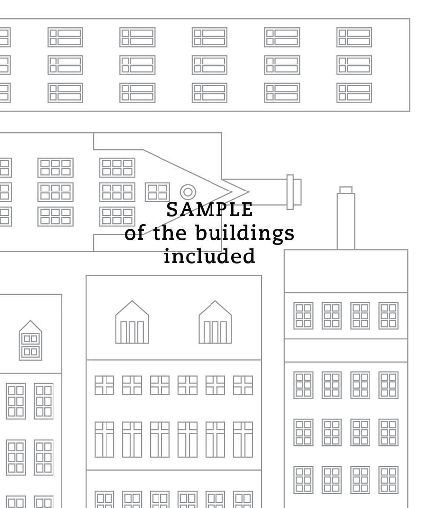 picture relating to Printable Buildings known as Do it yourself SCANDINAVIAN Structures AND Homes PRINTABLE Instance