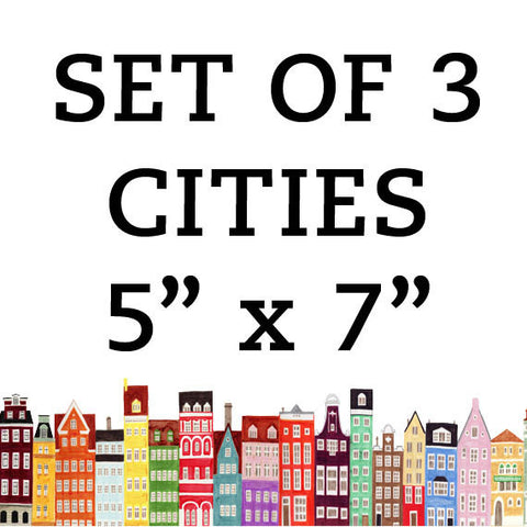 CITIES 5 x 7 SET