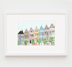 SAN FRANCISCO ILLUSTRATION GICLEE ART PRINT BY ANNA SEE
