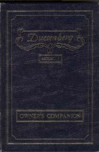 Duesenberg Model J - Owner`s Companion