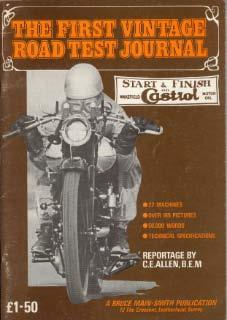 The first vintage road test journal