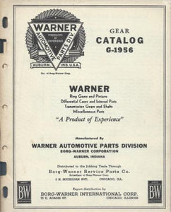 Warner . Gear Catalog G-1956