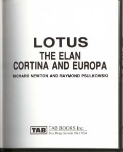 Lotus: the Elan, Cortina and Europe