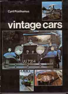 Vintage Cars - Motoring in the 1920s