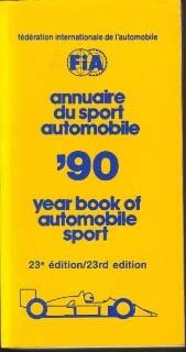 Annuaire de Sport Automobile / Year book of Automobile Sport 1990