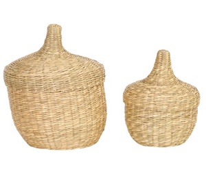 Seagrass Baskets with lids