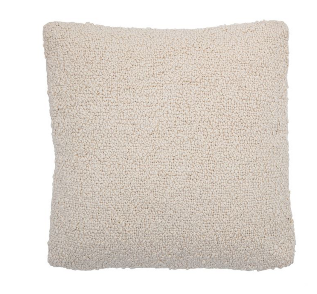 Cotton Boucle Pillow - Cream