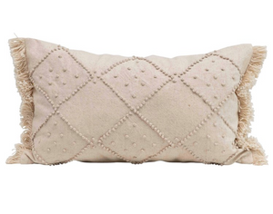 French Knots Pillow, Cream