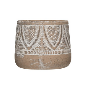 Terracotta Planter - Whitewash