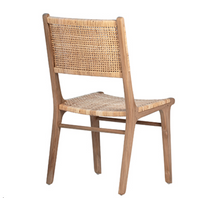 Load image into Gallery viewer, Rattan and Teak Dining Chair