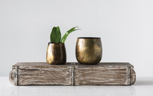 Metal Planters - set of 2