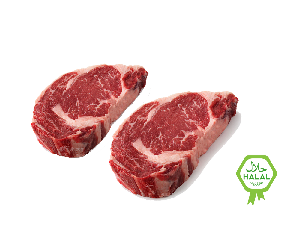 ND Fresh Halal Rib Eye Steak, AAA DELIVERY TORONTO meat oshawa ajax pickering  vaughan north york hamilton burlington barrie