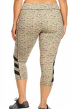 Cropped Multi Color Leggings