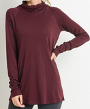 High-Neck Hoodie Coverup