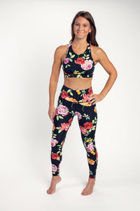 ROSE FLORAL PRINT LEGGINGS BOTTOM