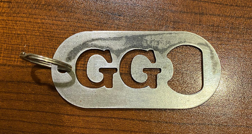 Handmade Goodnight's Grind Keychain / Bottle Opener