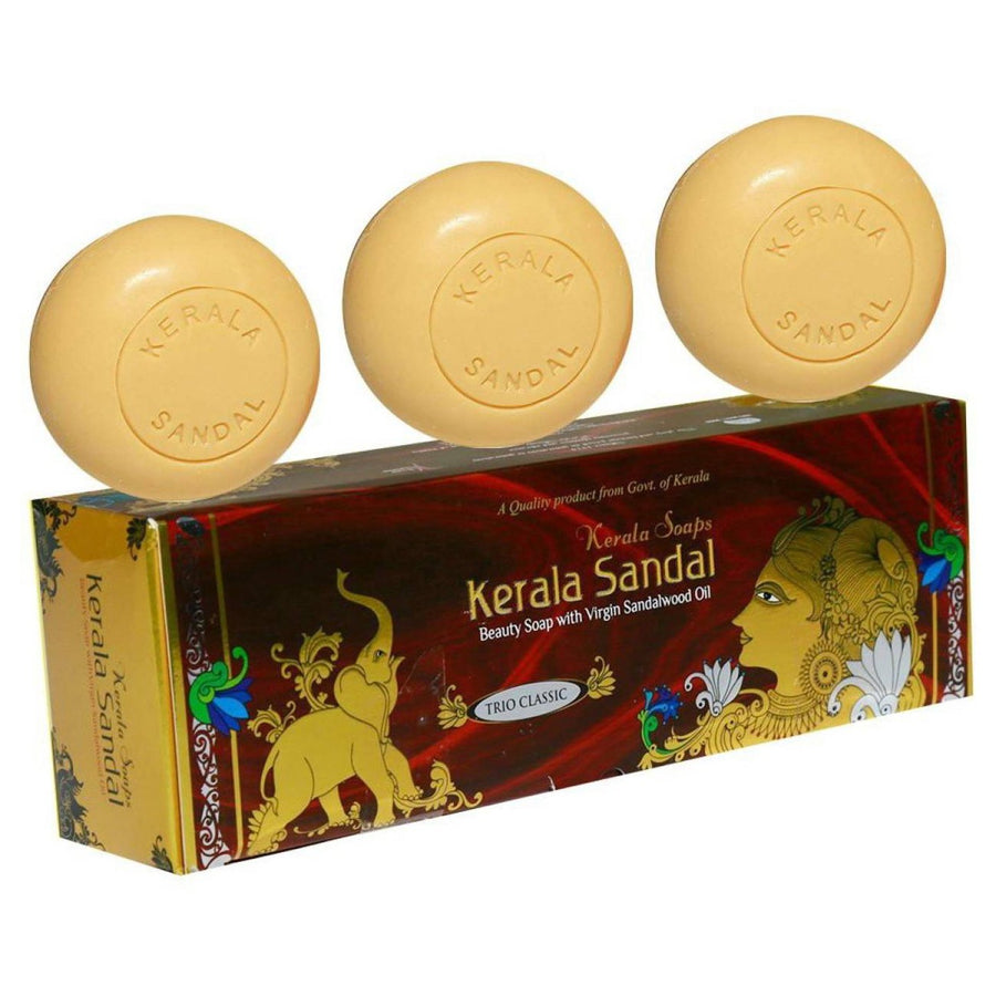 Kerala Sandal Soap (Pack of 3 - 75 gms Soap)