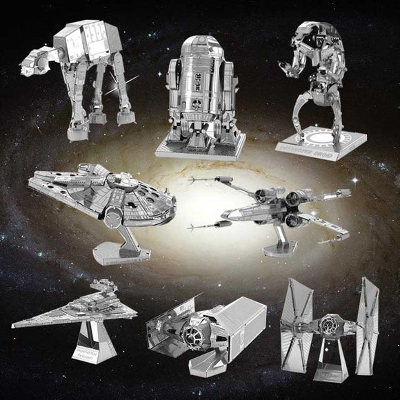 3D DIY Metal  Mini Star Wars Series Battleship Models