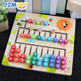 Kids Preschool Wooden Montessori Math Toy Toddler Early Education