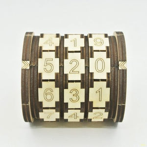 Da Vinci Code Type Lock Wooden and Metal Version