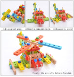 Wooden Nuts and Bolts Combination Building Blocks Children's Assembly Toy