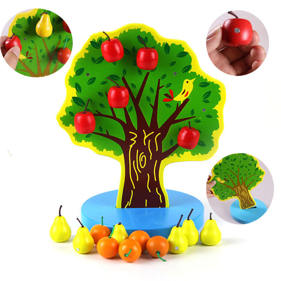 Wooden Magnetic Fruit Tree Early Education Montessori Toys