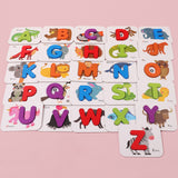Wooden Letters/Numbers With Matching  Cards
