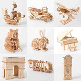 Laser Cut DIY 3D Wooden Puzzle Toy Assembly Models