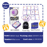 Logic game Swish - A Fun Transparent card game for kids and adults