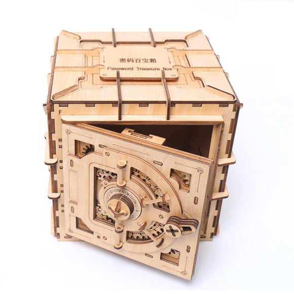 DIY Password Safe Treasure/Jewellery Box Wooden Assembly Kit