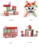 94 PCS  Colorful Beech Wood Building Blocks