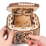 Jewelry Box With Secret Key And Mechanically Opening Lid