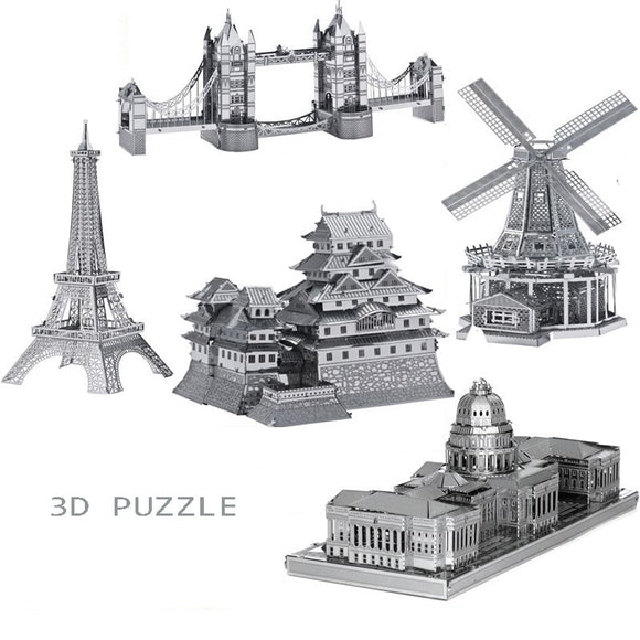Large collection of metal assembly models