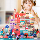 115 Pcs Colorful Town Building Blocks
