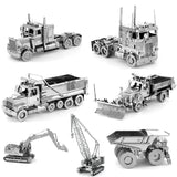 Construction Vehicles Model Kits + assembly tools
