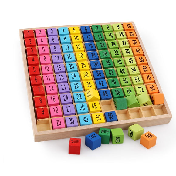 Montessori Educational Wooden Toys Times Table Teaching Aids for Kids