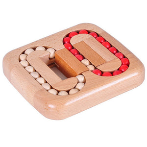 Wooden Ball   Lock Burr Puzzle Brain Teaser IQ Intelligence Toy for Kids Adults