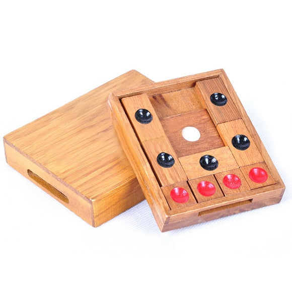 Classic Wooden Brain Teaser Slide Escape Maze Puzzle Board Game