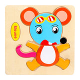 Toddler Wooden Puzzle Cute Cartoon Animals