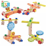 50 pcs Chair Designer Set of Wooden Parts and Tools Creative Assembly Toy