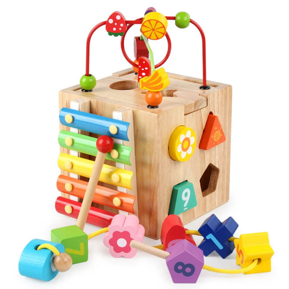 Wooden Colorful Number, Shapes and Music Toy