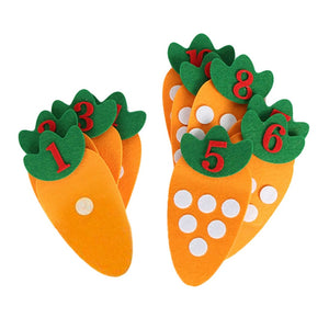 Learn numbers 1-10 Montessori Educational Children's DIY Creative Toy Carrot Match