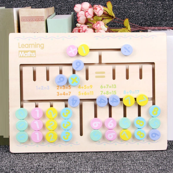 Montessori Type Early Learn Calculation Math Wooden Toy