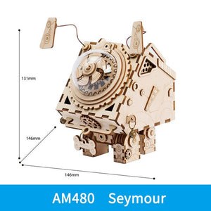 ROKR Robotime 6 Kinds DIY Steampunk Music Box 3D Wooden Assembly Model Building Kit