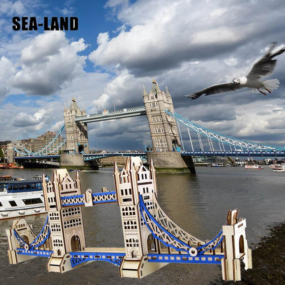The London's Tower Bridge 3D Laser Cut Wooden Assembly Kit